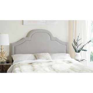 Safavieh Kerstin Arctic Grey Upholstered Arched Headboard (Full)