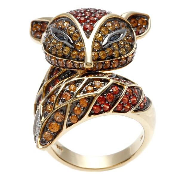 Neda Behnam 14k Gold Sapphire and 1/10ct TDW Diamond Ring (H-I, SI1-SI2)