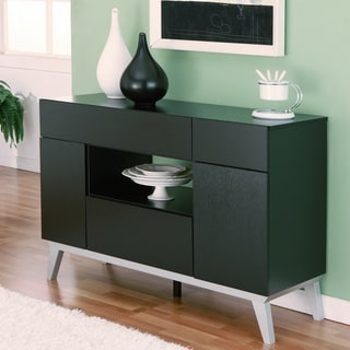Furniture of America Miura Modern Multi-storage Black Buffet Table