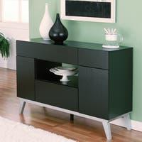 Furniture of America Miura Modern Multi-storage Black Buffet Table