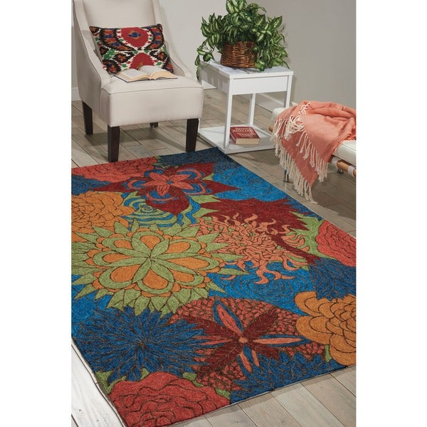 Nourison South Beach Deep Sea Rug - 10' x 13'