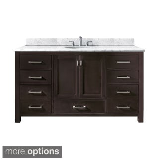 Avanity Modero 60-inch Single Vanity in Espresso Finish with Sink and Top