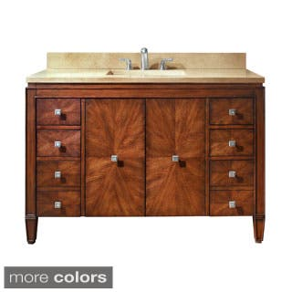 Avanity Brentwood 49-inch Single Vanity in New Walnut with Sink and Top (Option: Tan)|https://ak1.ostkcdn.com/images/products/8430573/Avanity-Brentwood-49-inch-Single-Vanity-in-New-Walnut-with-Sink-and-Top-P15727264.jpg?impolicy=medium