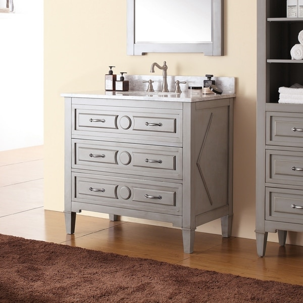 Avanity Kelly 36-inch Vanity in Grayish Blue with with Sink and Top