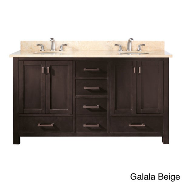 Shop Avanity Modero 60 Inch Double Vanity In Espresso Finish With Dual Sinks And Top Free