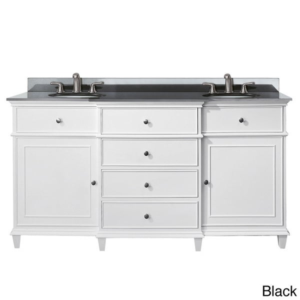 Shop Avanity Windsor 60 Inch Double Vanity In White Finish With Dual Sinks And Top Free