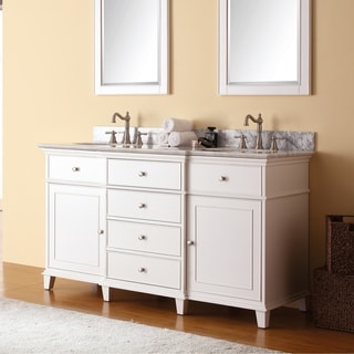 Avanity Windsor 61-inch Double Vanity in White with Dual Sinks and Top