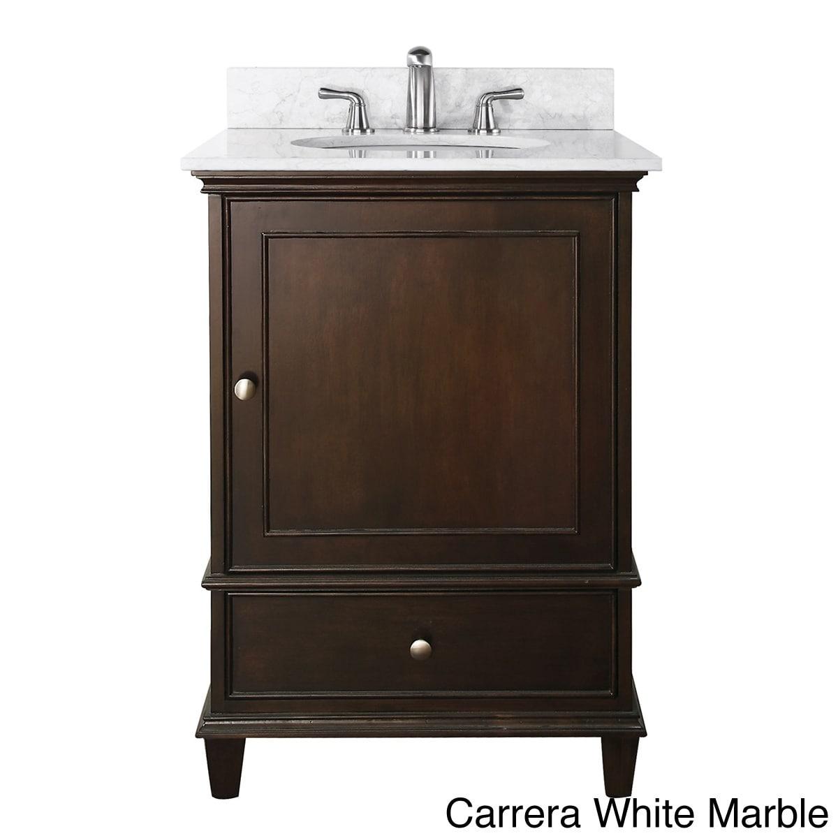 Avanity Windsor 24-inch Single Vanity In Walnut Finish With Sink