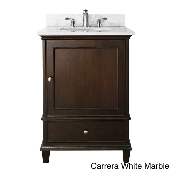 Avanity Windsor 24 Inch Single Vanity In Walnut Finish With Sink And Top Fr