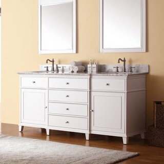 Avanity Windsor 72-inch Double Vanity in White Finish with Dual Sinks and Top (3 options available)
