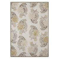 Hand-made Lambs Wool Blended Wool Rug (5' x 8') - 5' x 8'