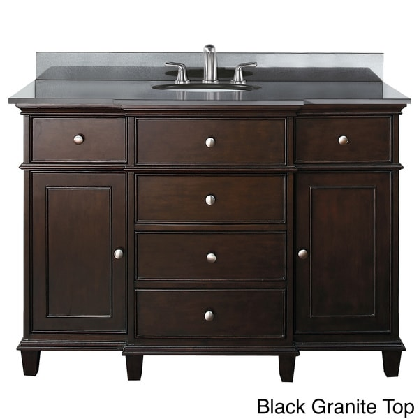 Shop Avanity Windsor 48-inch Single Vanity in Walnut ...