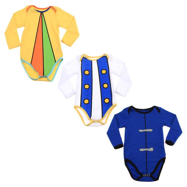 Mme. Weathersby My Three Bodysuits Baby Onsie Set