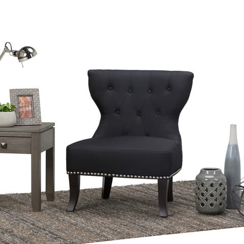 WYNDENHALL Waterloo 28 inch Wide Traditional Accent Slipper Chair