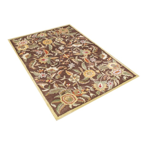 Alliyah Handmade Cornhusk New Zealand Blend Wool Rug (8' x 10') - 8' x 10'