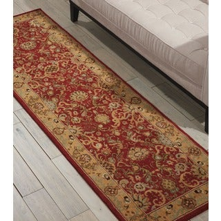 kathy ireland Lumiere Stateroom Brick Area Rug by Nourison (2'3 x 7'9)