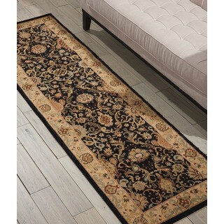kathy ireland Lumiere Stateroom Onyx Area Rug by Nourison (2'3 x 7'9)