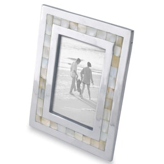 "Mother of Pearl Inlayed Aluminum Frame (4""x6"")"