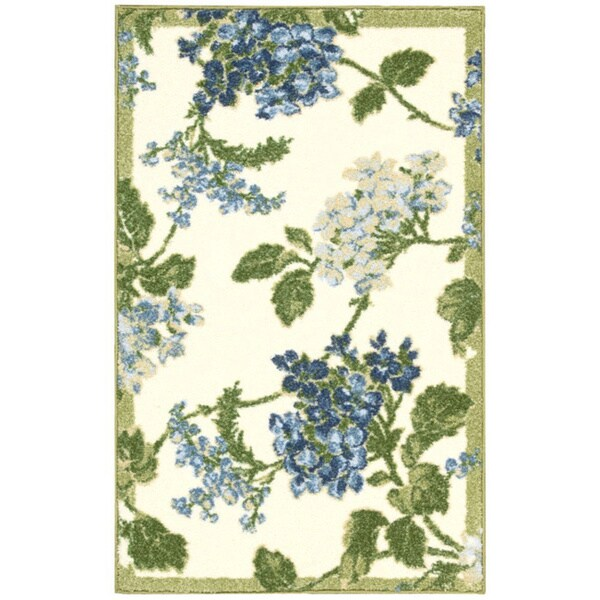 Waverly Aura of Flora Rolling Meadow Cream Area Rug by Nourison (2'6 x 4')