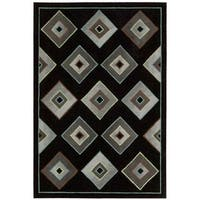 kathy ireland Palisades Architectural Retro Black Area Rug by Nourison - 8' x 10'6