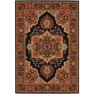 Everest Antique Sarouk/ Black Power-loomed Area Rug (7'10 x 11'2)