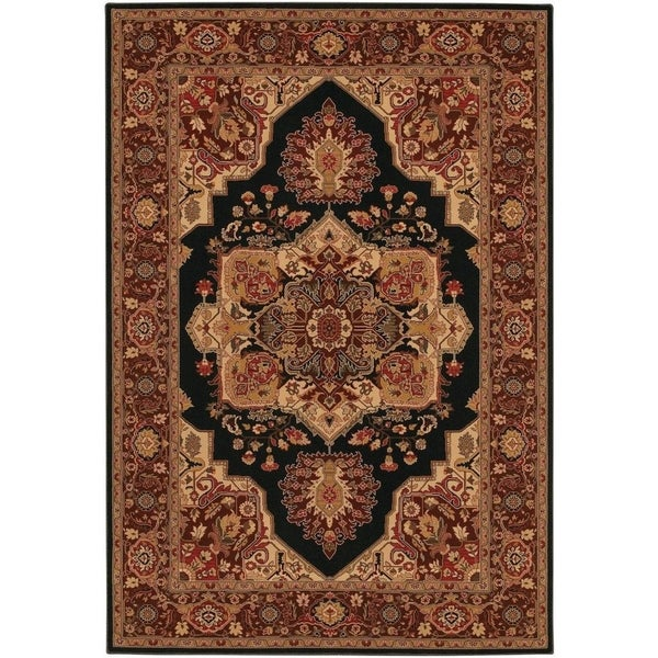 "Couristan Everest Antique Sarouk Black Area Rug - 5'3"" x 7'6"""