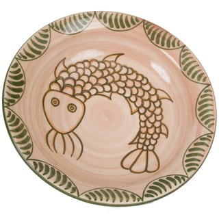 Handcrafted Spanish Colonial-inspired Fish Serving Bowl (Peru)