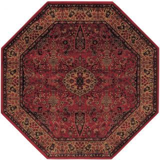 Delta Linsey Crimson Octagon Area Rug - 3'11 x 3'11