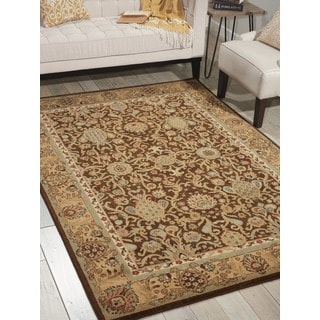 kathy ireland Lumiere Stateroom Espresso Area Rug by Nourison (5'3 x 7'5)