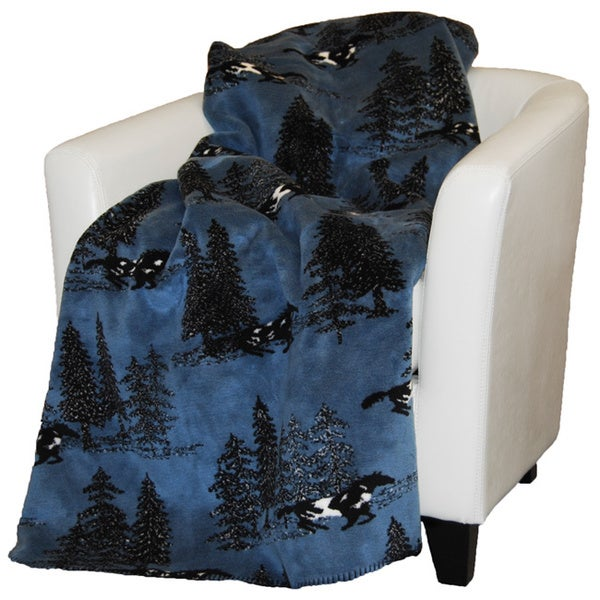 Denali Horse in Flight Throw Blanket