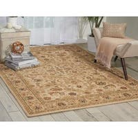 kathy ireland Lumiere Royal Countryside Beige Area Rug by Nourison - 5'3 x 7'5