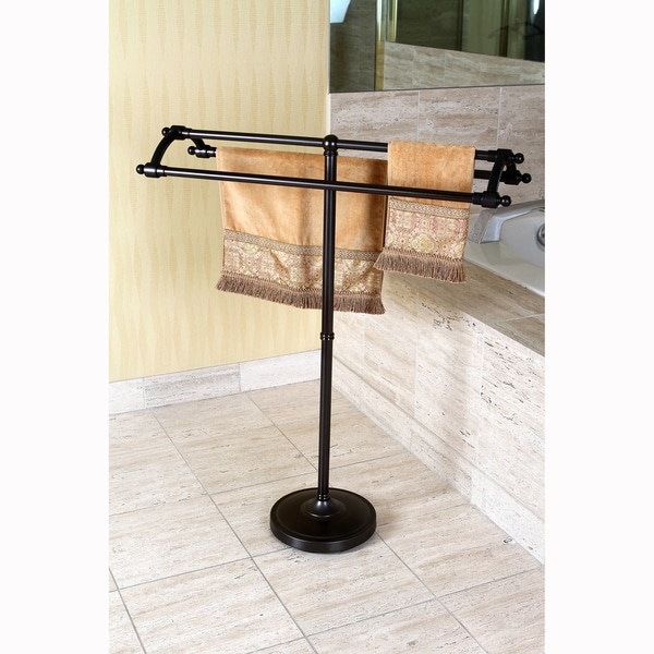 Bath towel holder Unique Oil Rubbed Bronze Pedestal Bath Towel Rack Overstock Shop Oil Rubbed Bronze Pedestal Bath Towel Rack Free Shipping