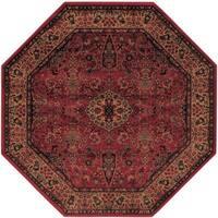 Delta Linsey Crimson Octagon Area Rug - 7'10 x 7'10