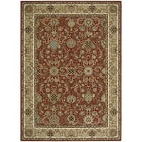 kathy ireland Lumiere Stateroom Brick Area Rug by Nourison - 3'6 x 5'6