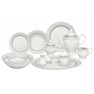 Silver Accent Porcelain Dinnerware Set (57-piece)|https://ak1.ostkcdn.com/images/products/8430859/Silver-Accent-Porcelain-Dinnerware-Set-57-piece-P15727469.jpg?_ostk_perf_=percv&impolicy=medium