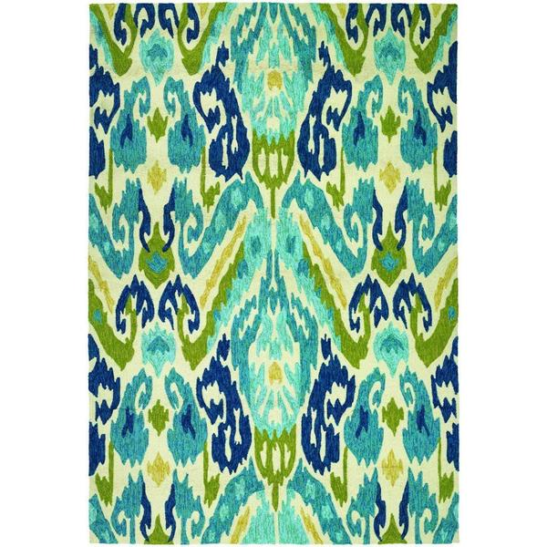 Miami London Blue-Lemon Indoor/Outdoor Area Rug - 8' X 11'