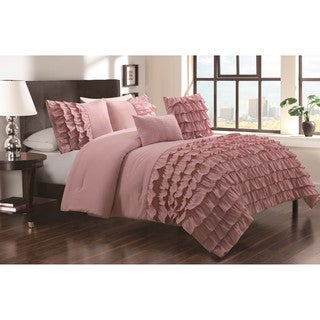 Shop Taylor 5 Piece Textured Comforter Set Free Shipping