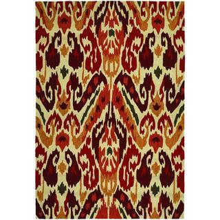 Covington Delfina/ Rust-Tangerine Hand-hooked Area Rug (3'6 x 5'6)