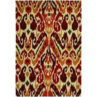 Covington Delfina/ Rust-Tangerine Hand-hooked Area Rug (8' x 11')