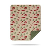 Denali Moose Camp/Sage Blanket - N/A - 60x50