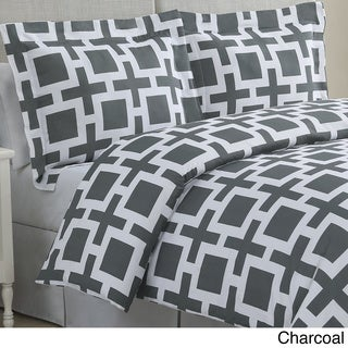 Echelon Home Links Cotton 3-piece Duvet Cover Set
