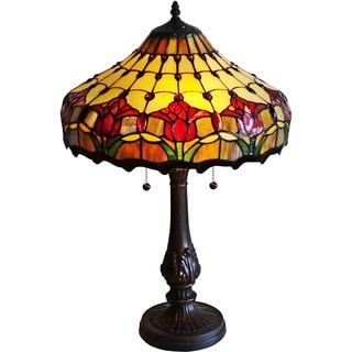 Amora Lighting Tulips Design Tiffany Style Table Lamp