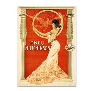 Vintage Apple Collection 'Pneu Hutchinson' Canvas Art