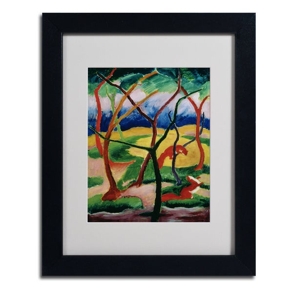 Franz Marc 'Weasels Playing' Framed Matted Art