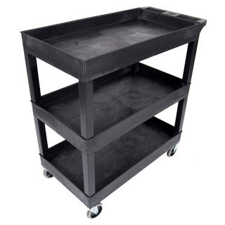 Luxor Black High Capacity 3-shelf Tub