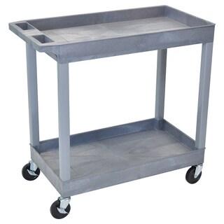 Luxor High Capacity 2-Shelf Gray Tub