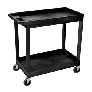 Luxor High Capacity 2-Shelf Black Tub Cart (4 options available)
