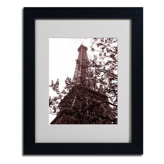 Kathy Yates 'Eiffel With Tree' Framed Matted Art