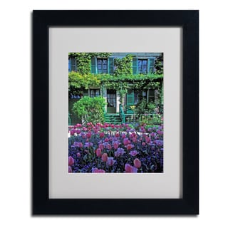 Kathy Yates 'Monet's House With Tulips' Framed Matted Art