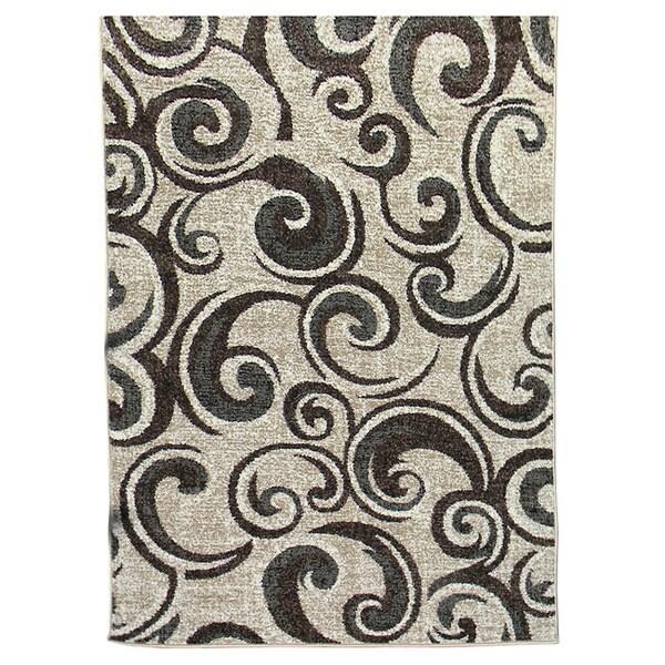 Lexington 442 Champaign Small Swirl Design Rug (5 x 7)